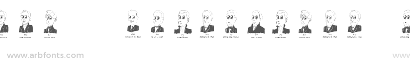 Cartoon US Presidents Dingbats