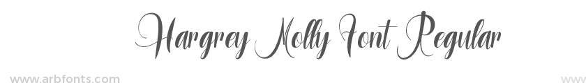 Hargrey Molly Font Regular