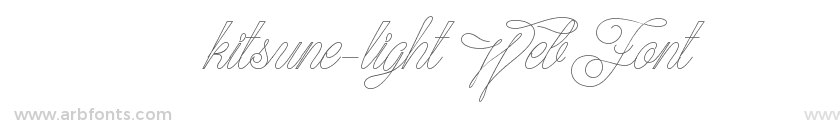 kitsune-light WebFont