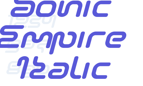 Sonic Empire Italic Font Free Download Now